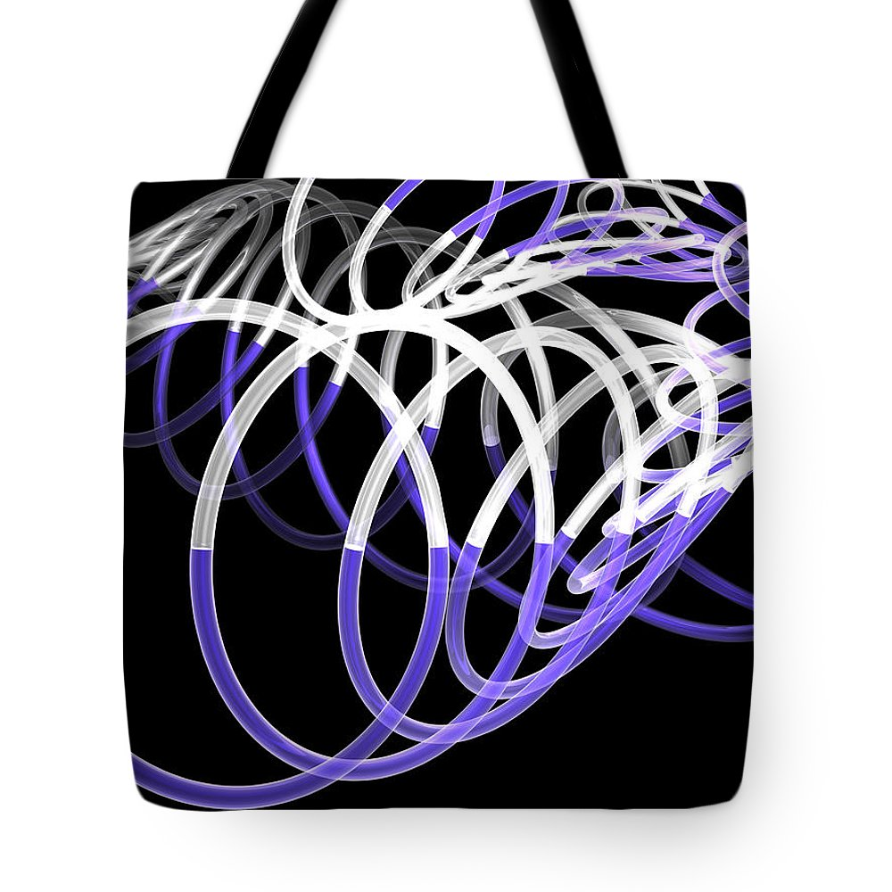Scott Piers Tote Bag featuring the painting Glow Stix by Scott Piers
