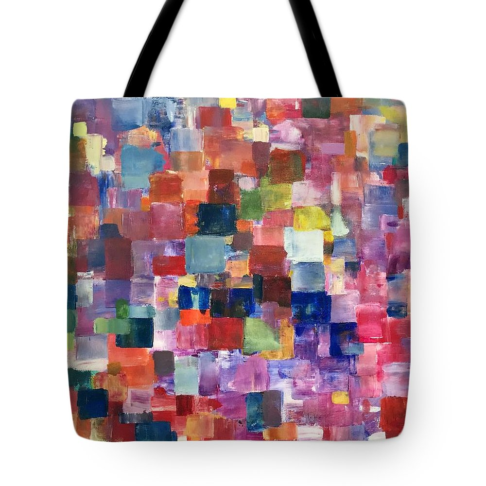 Abstract Tote Bag featuring the painting Glowing From Within by Shawn Brandon