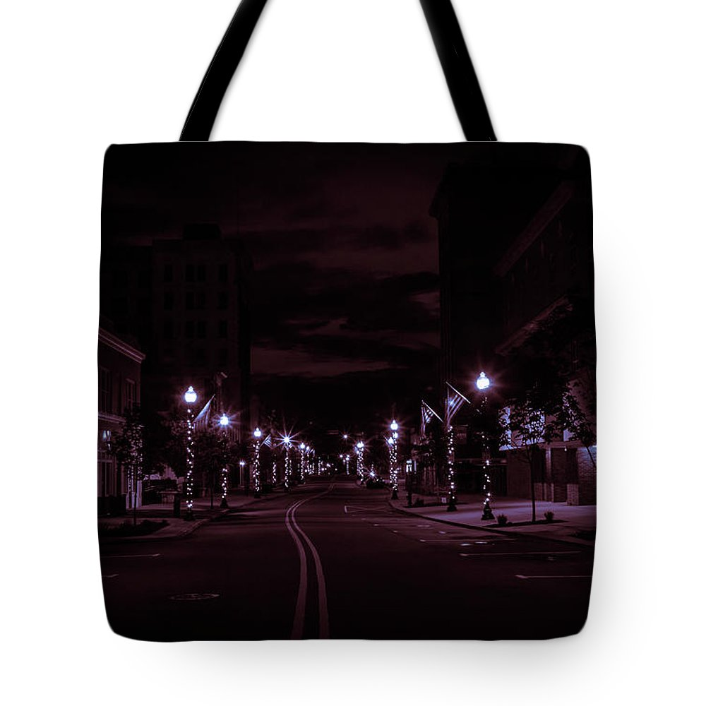 Streets Tote Bag featuring the photograph Glowing Streets Downtown by Ant Pruitt