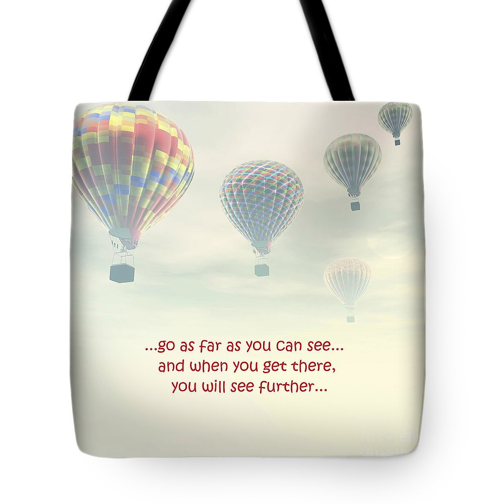 Tote Bag featuring the photograph Go As Far As You Can See by Terrie Sizemore