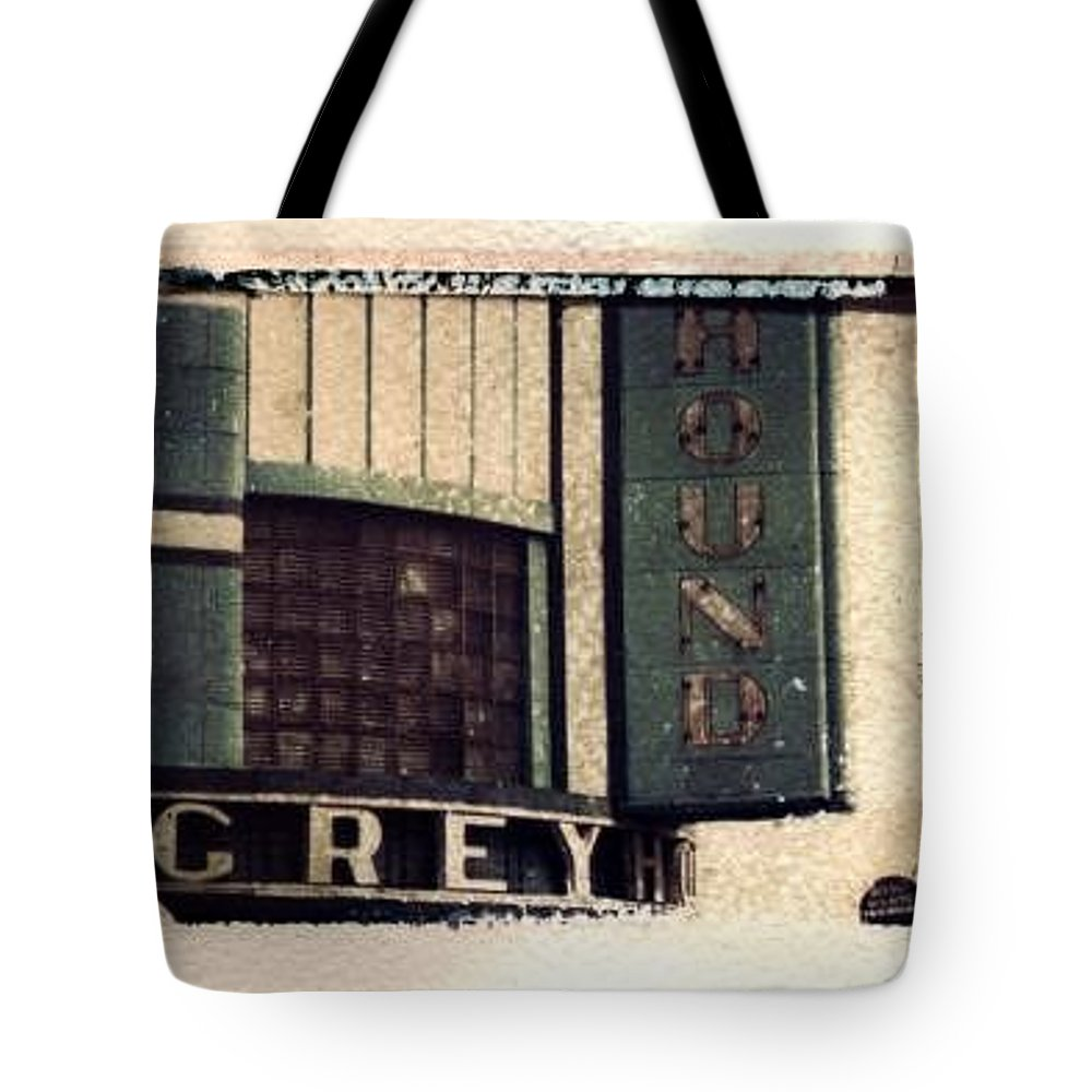Polaroid Transfer Tote Bag featuring the photograph Go Greyhound And Leave The Driving To Us by Jane Linders