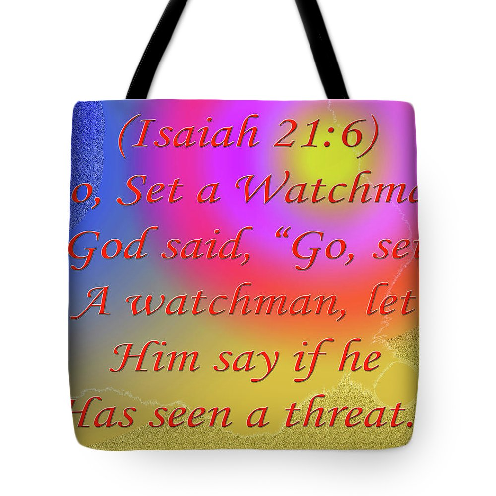 Poem Tote Bag featuring the digital art Go Set A Watchman by Day Williams