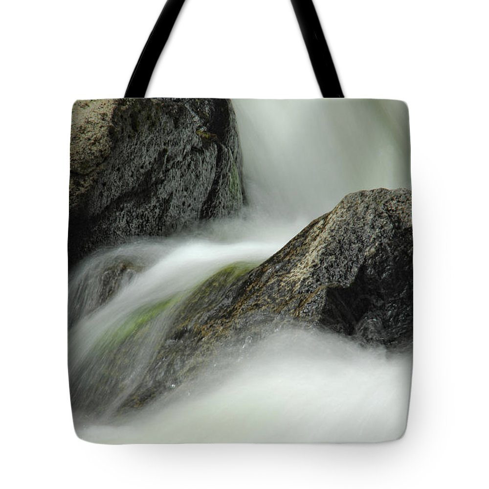 Creek Tote Bag featuring the photograph Go With The Flow by Donna Blackhall