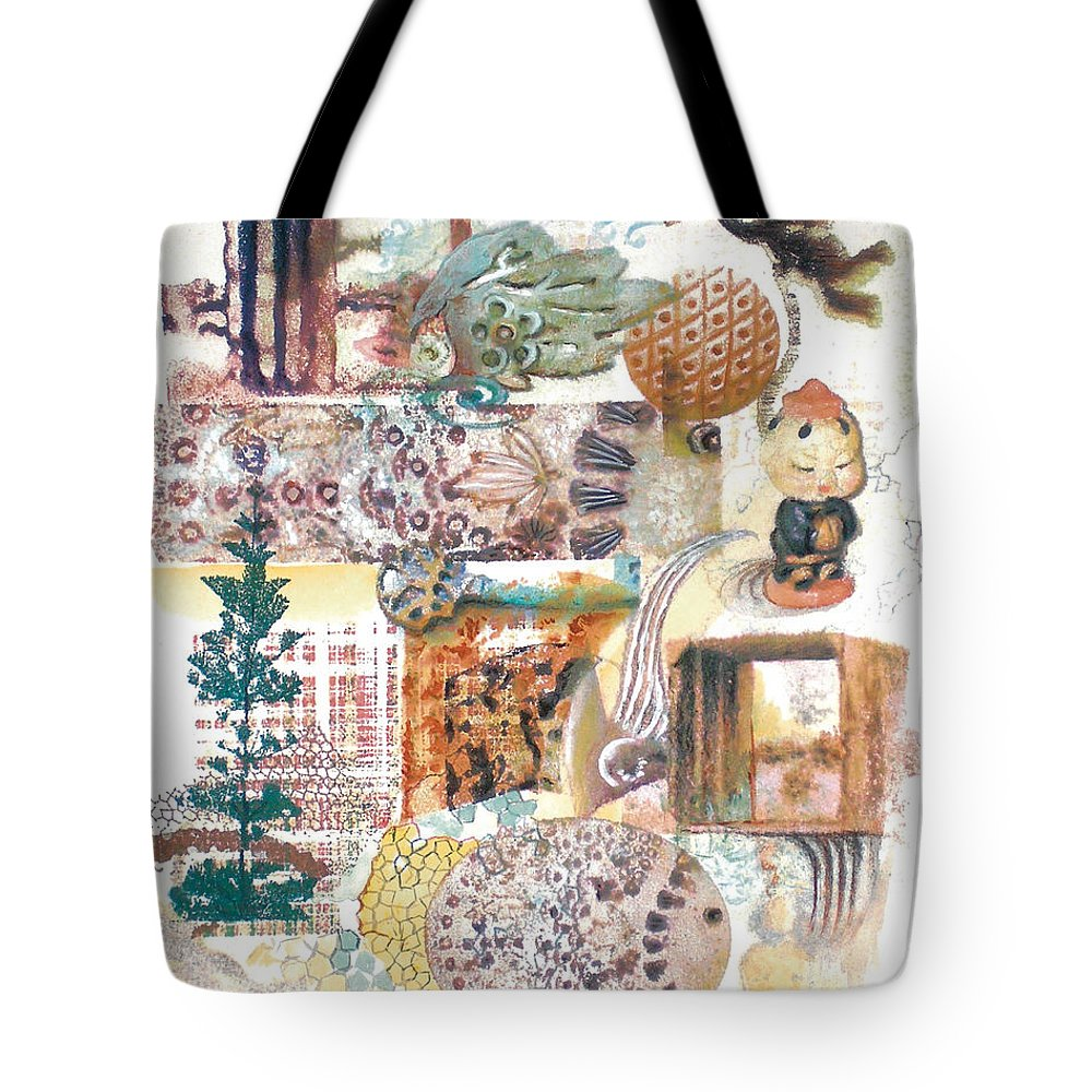 Abstract Tote Bag featuring the painting Go With The Flow by Valerie Meotti