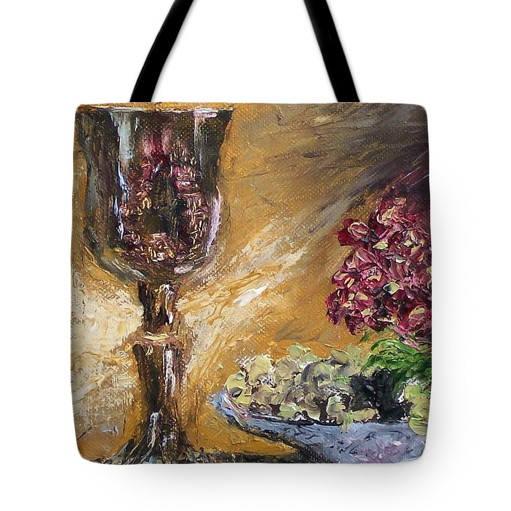 Tote Bag featuring the painting Goblet by Stephen King