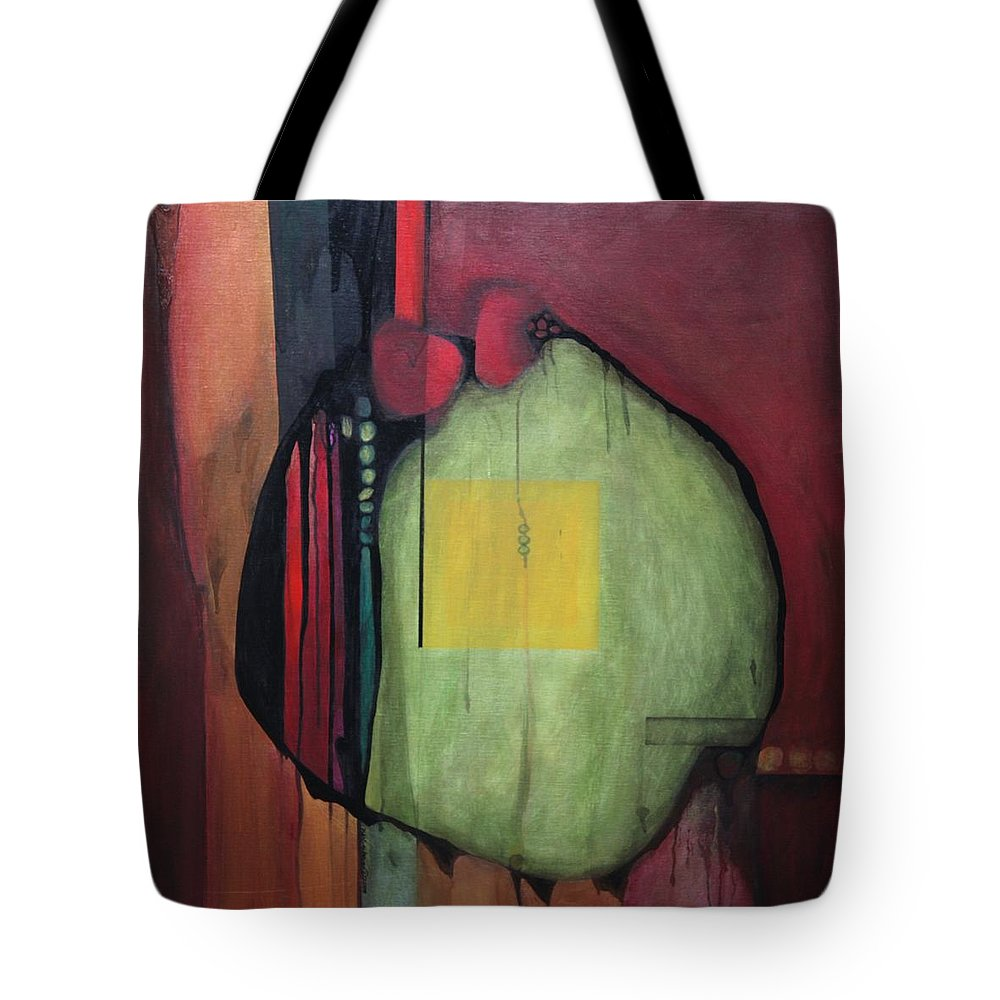 Abstract Tote Bag featuring the painting Gobs by Marlene Burns