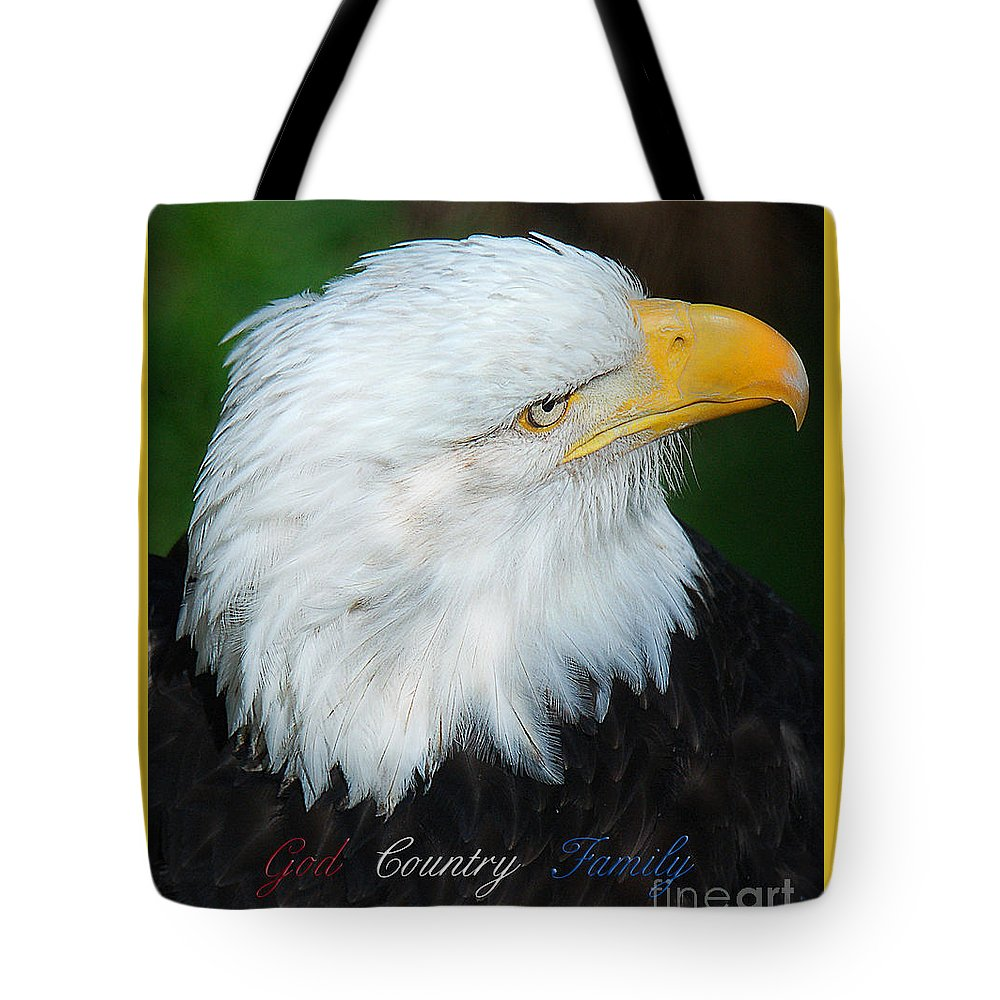 Diane Berry Tote Bag featuring the photograph God Country Family by Diane E Berry
