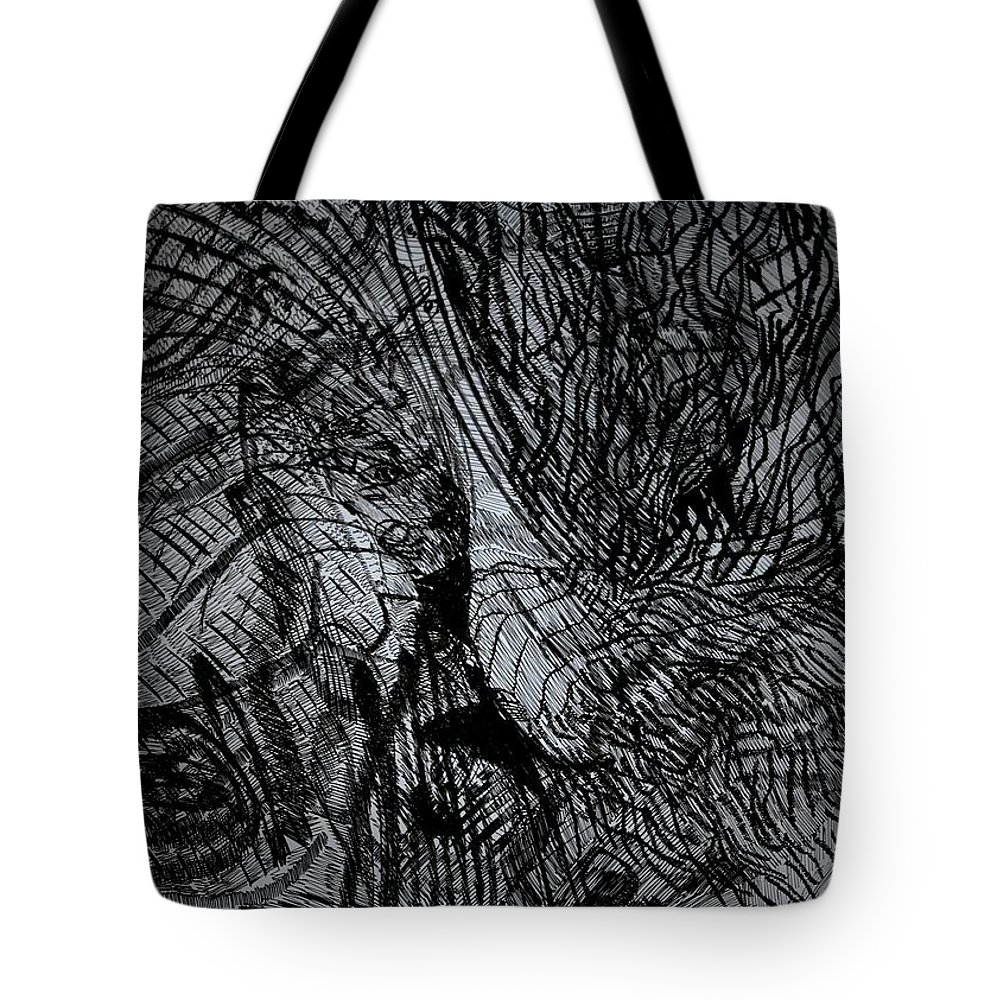 Love Tote Bag featuring the drawing God Falls In Love Too by Gloria Ssali