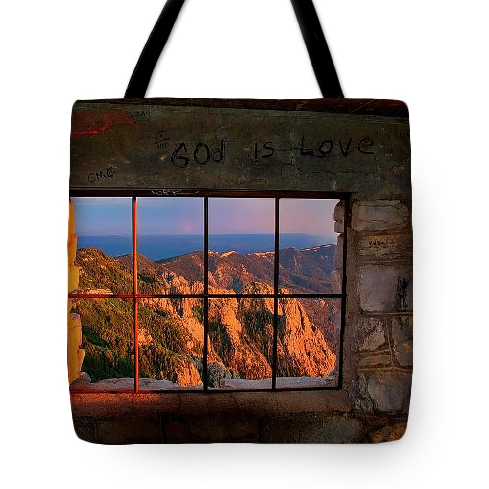 Nature Tote Bag featuring the photograph God is Love by Zayne Diamond Photographic