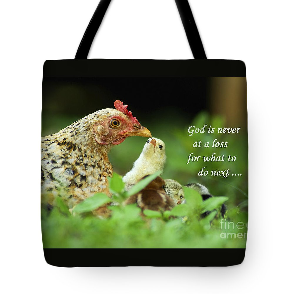Tote Bag featuring the photograph God Is Never At A Loss by Terrie Sizemore