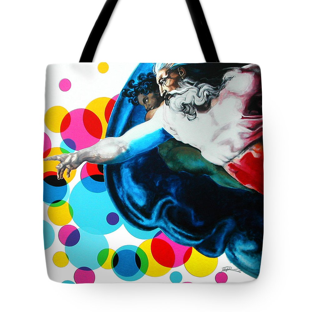 Classic Tote Bag featuring the painting God by Jean Pierre Rousselet