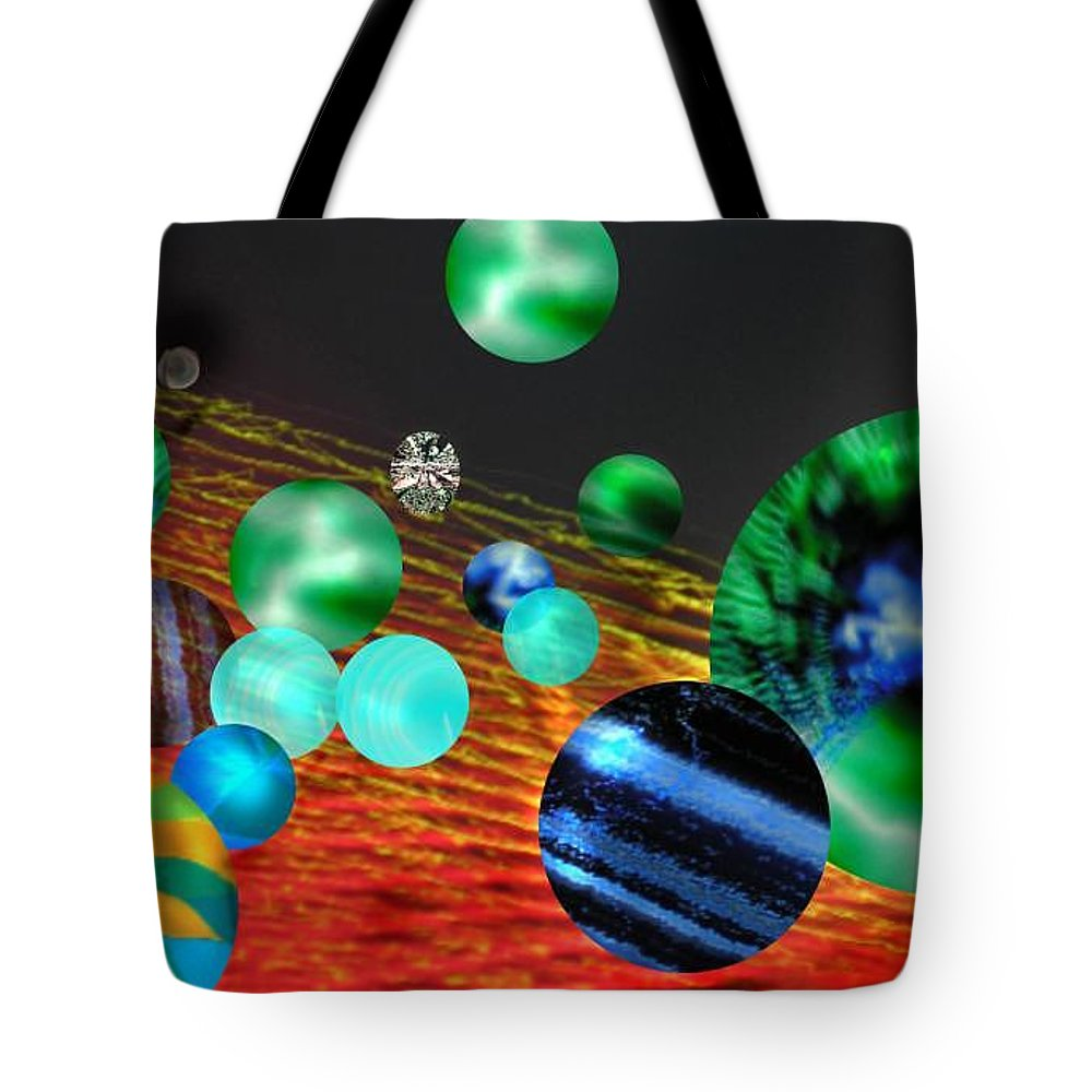 A Tribute To Donovan And His Song cosmic Wheels. A Line In The Song...god Is Playing Marbles With Tote Bag featuring the digital art God Playing Marbles Tribute To Donovan by Seth Weaver