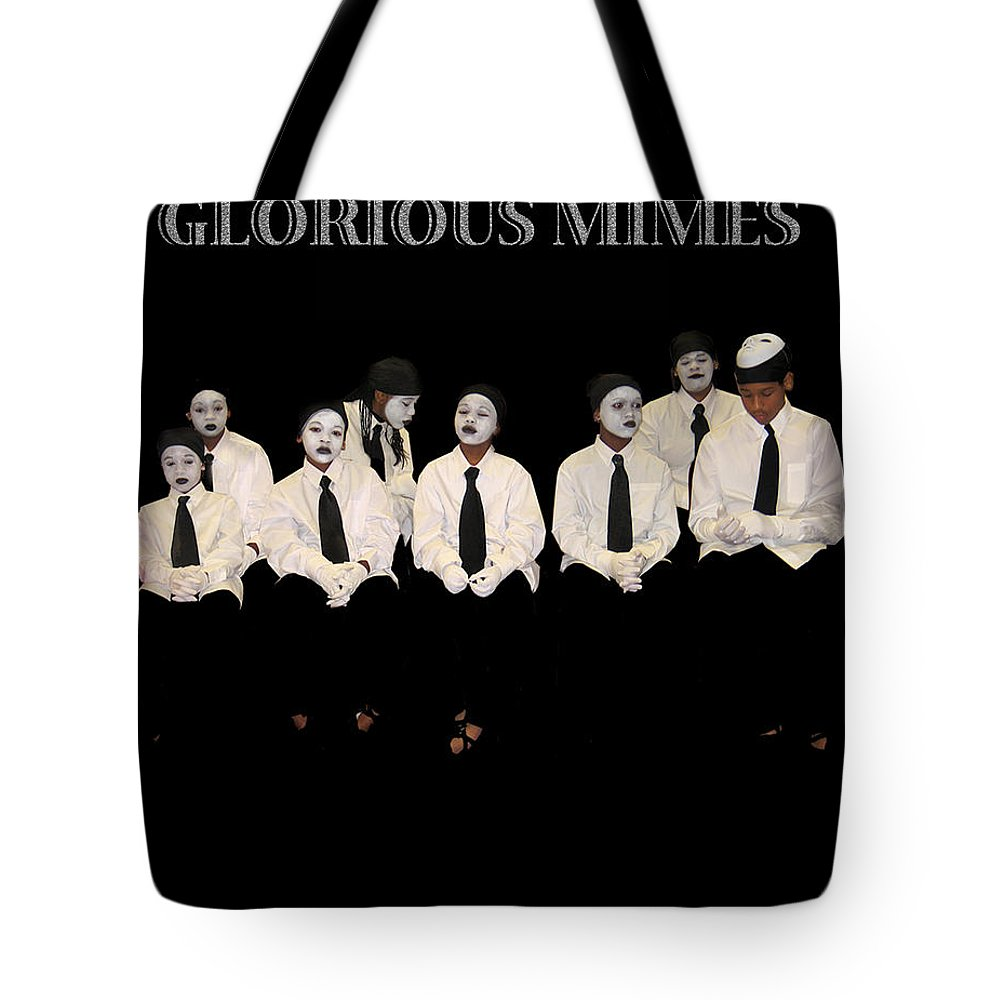 Young Mimes Waiting To Perform For God Tote Bag featuring the photograph God by Reggie Duffie