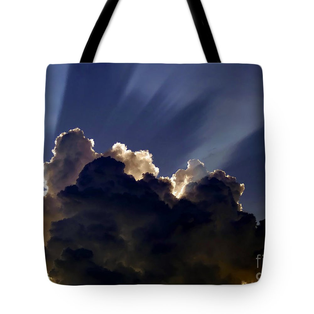 God Tote Bag featuring the painting God Speaking by David Lee Thompson