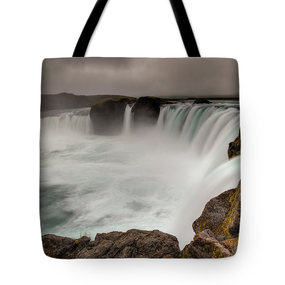 Brad Grove Tote Bag featuring the photograph Godafoss by Brad Grove