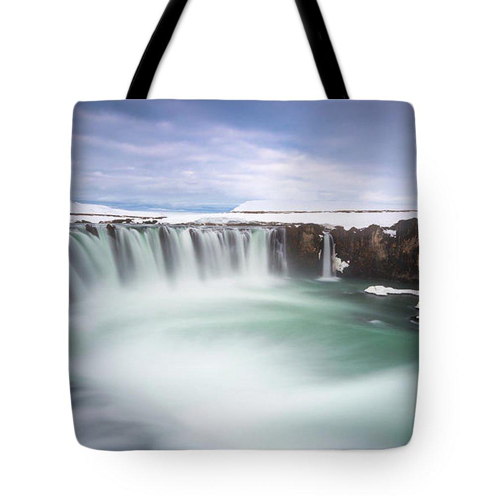 Godafoss Tote Bag featuring the photograph Godafoss by Tor-Ivar Naess