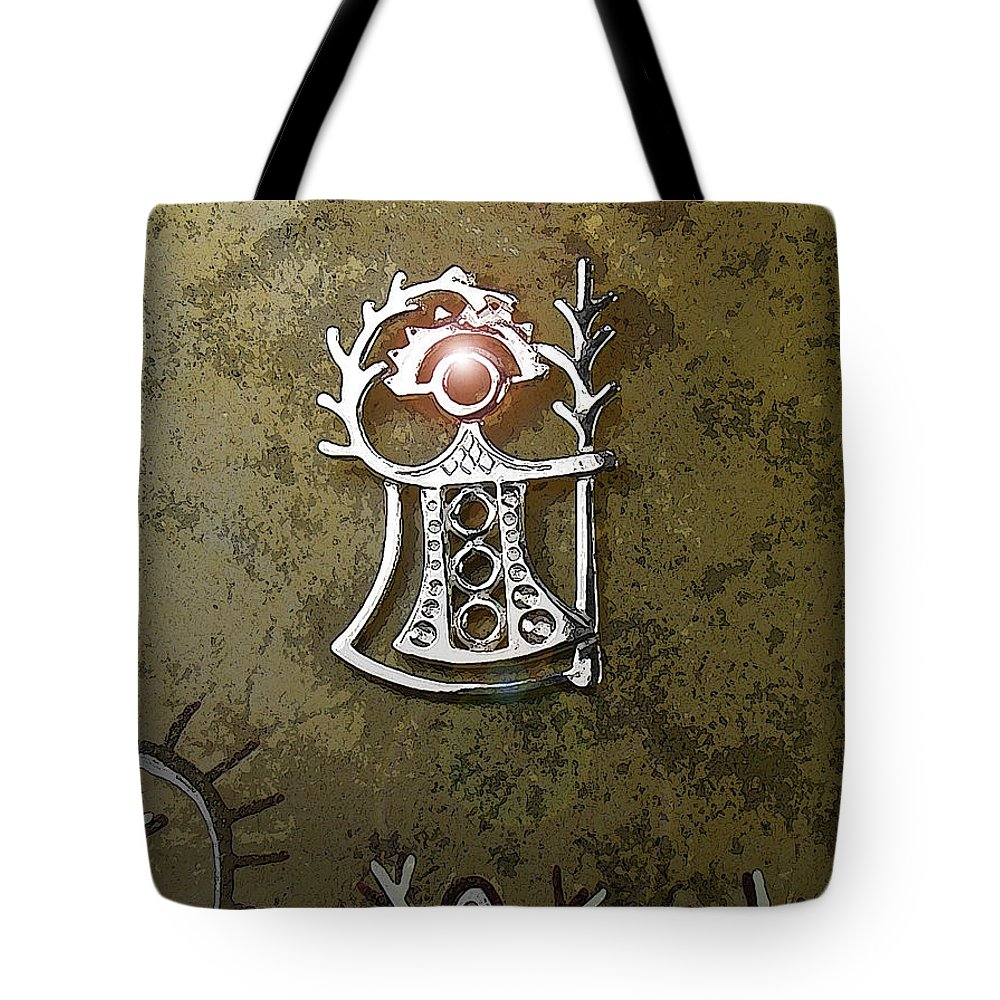 Goddess Tote Bag featuring the digital art Goddess Of Fertility by Merja Waters