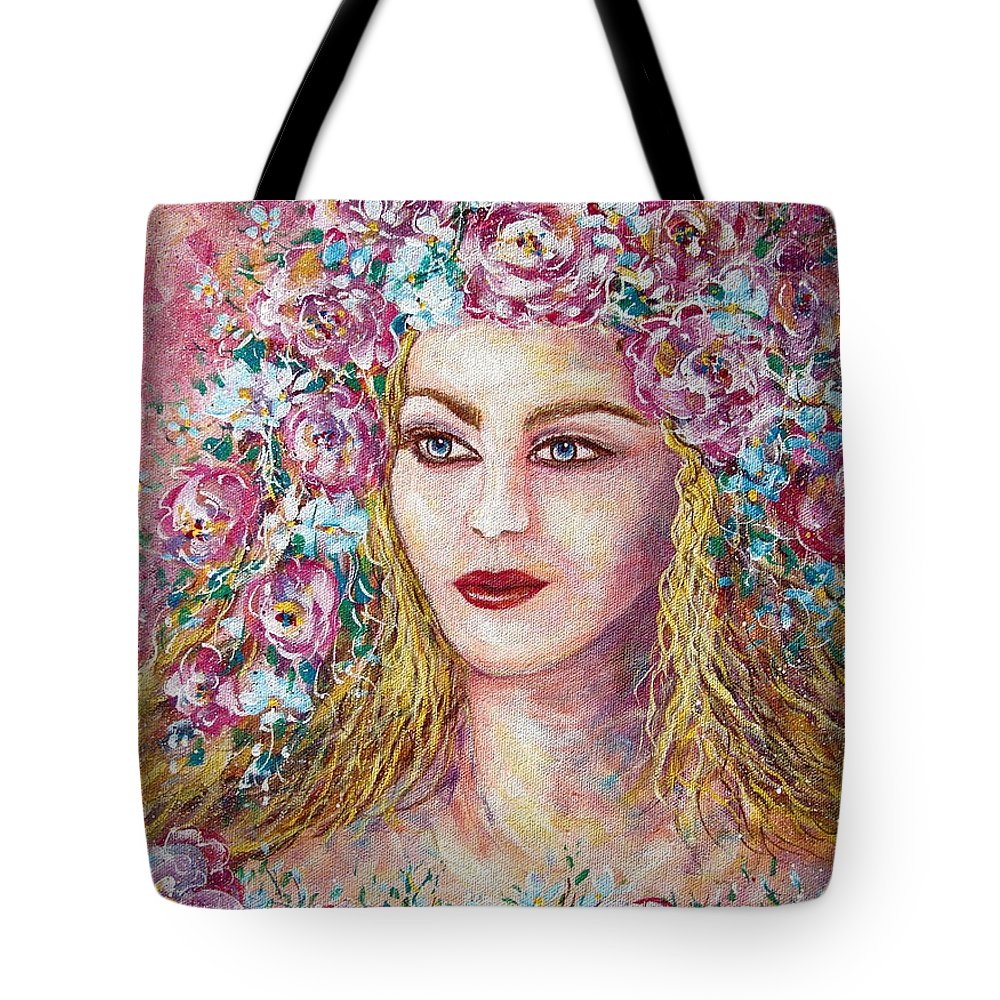 Goddess Of Good Fortune Tote Bag featuring the painting Goddess Of Good Fortune by Natalie Holland