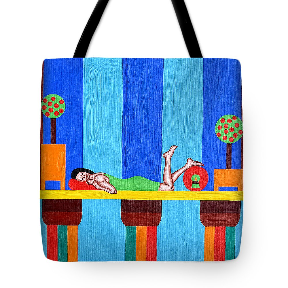 Bed Tote Bag featuring the painting Goddess by Patrick J Murphy