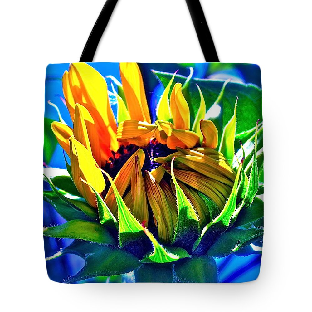 Photograph Of Sunflower Tote Bag featuring the photograph God's Creation by Gwyn Newcombe