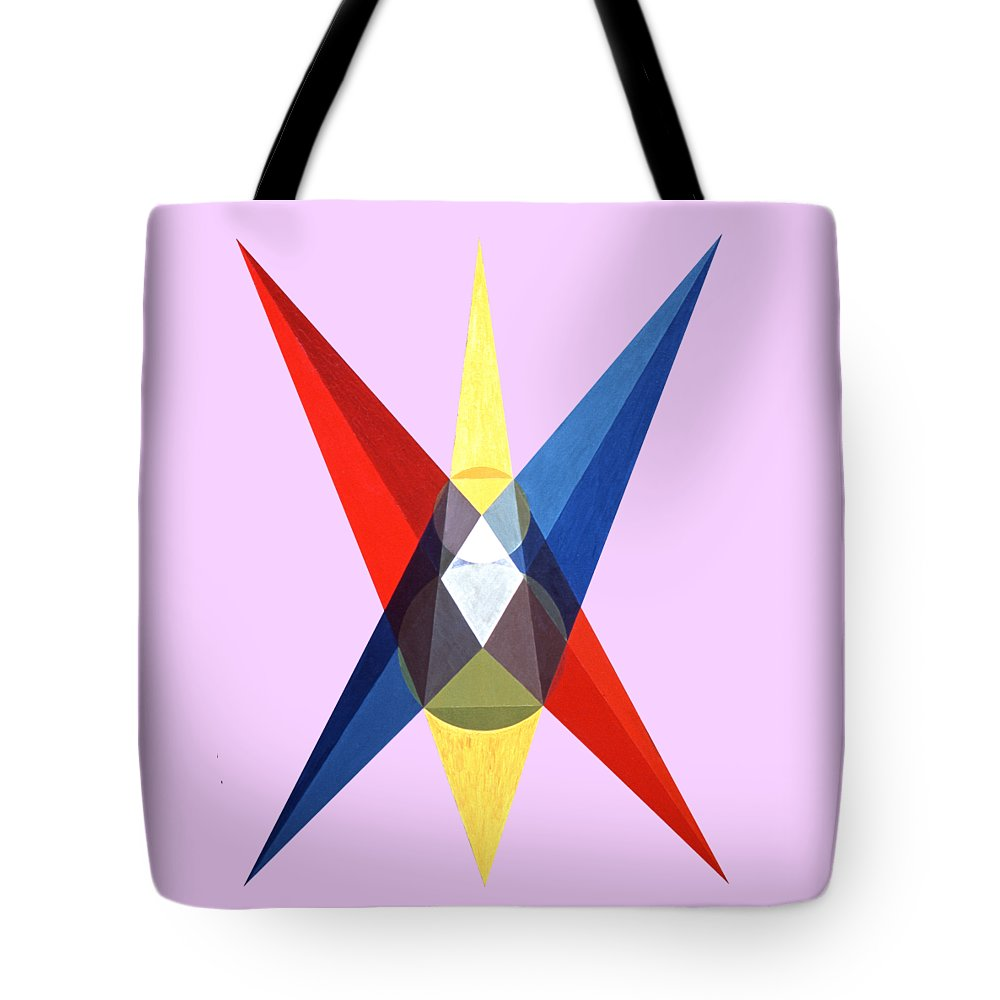 Painting Tote Bag featuring the painting Gods Dwelling by Michael Bellon