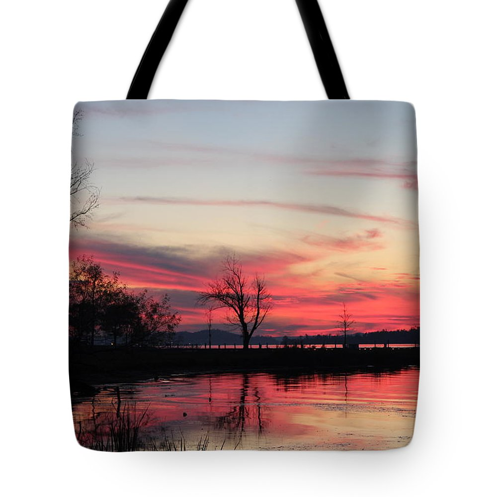 God's Hand On The Lake Tote Bag featuring the photograph God's Hand On The Lake by Robert Smith