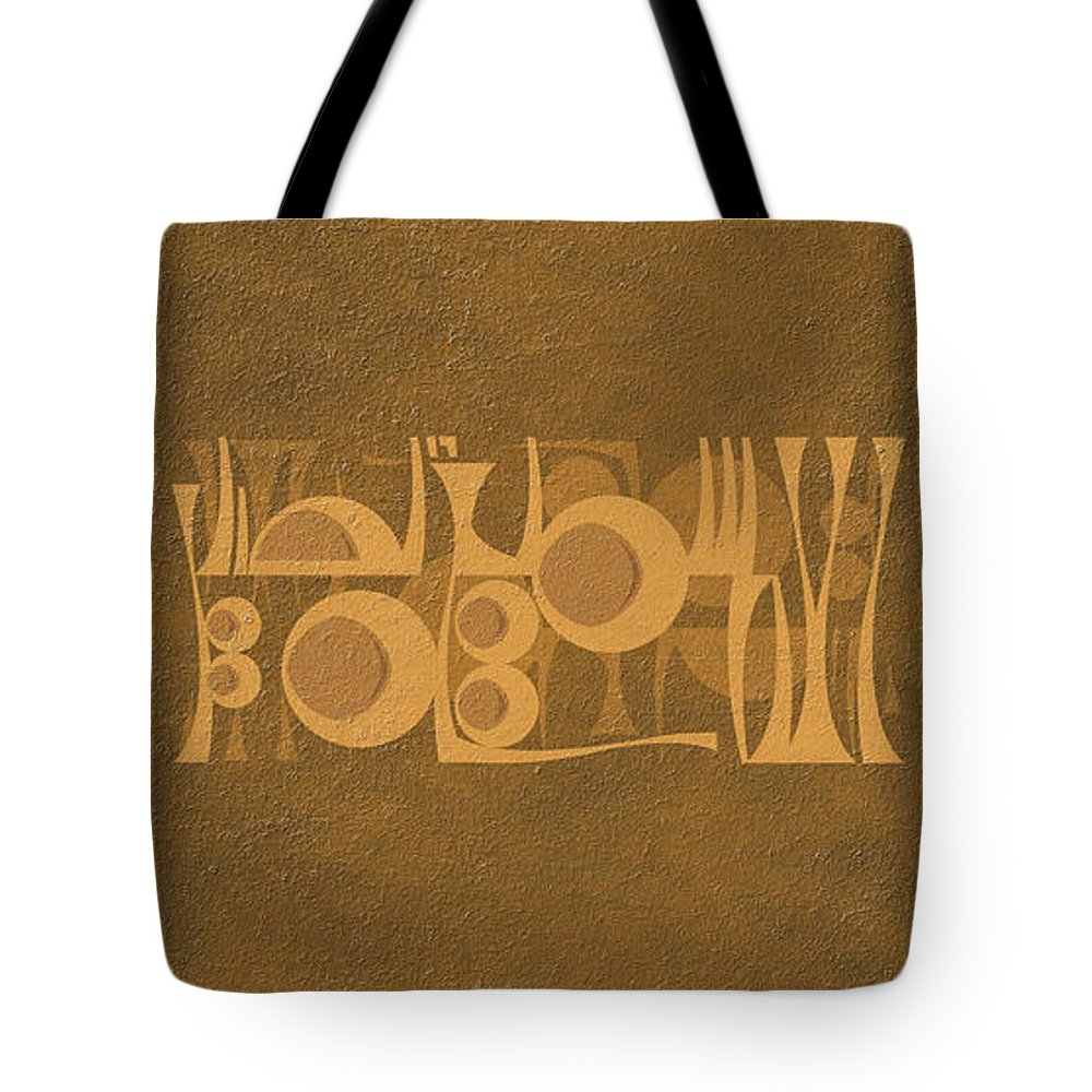 Islamic Typography - Oil Painting Tote Bag featuring the painting God's Wisdom by Mazdak Pashaei rad