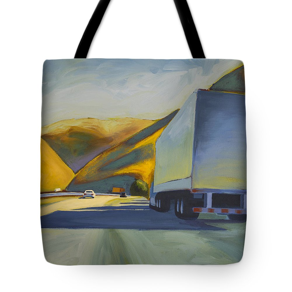 Landscape Tote Bag featuring the painting Goin' Down by Brent Martin