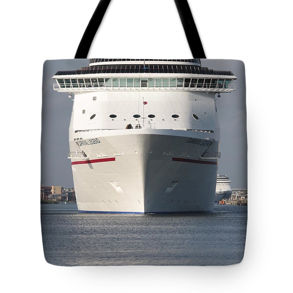 Cruise Ship Tote Bag featuring the photograph Going Cruising In Tampa by Carol Groenen