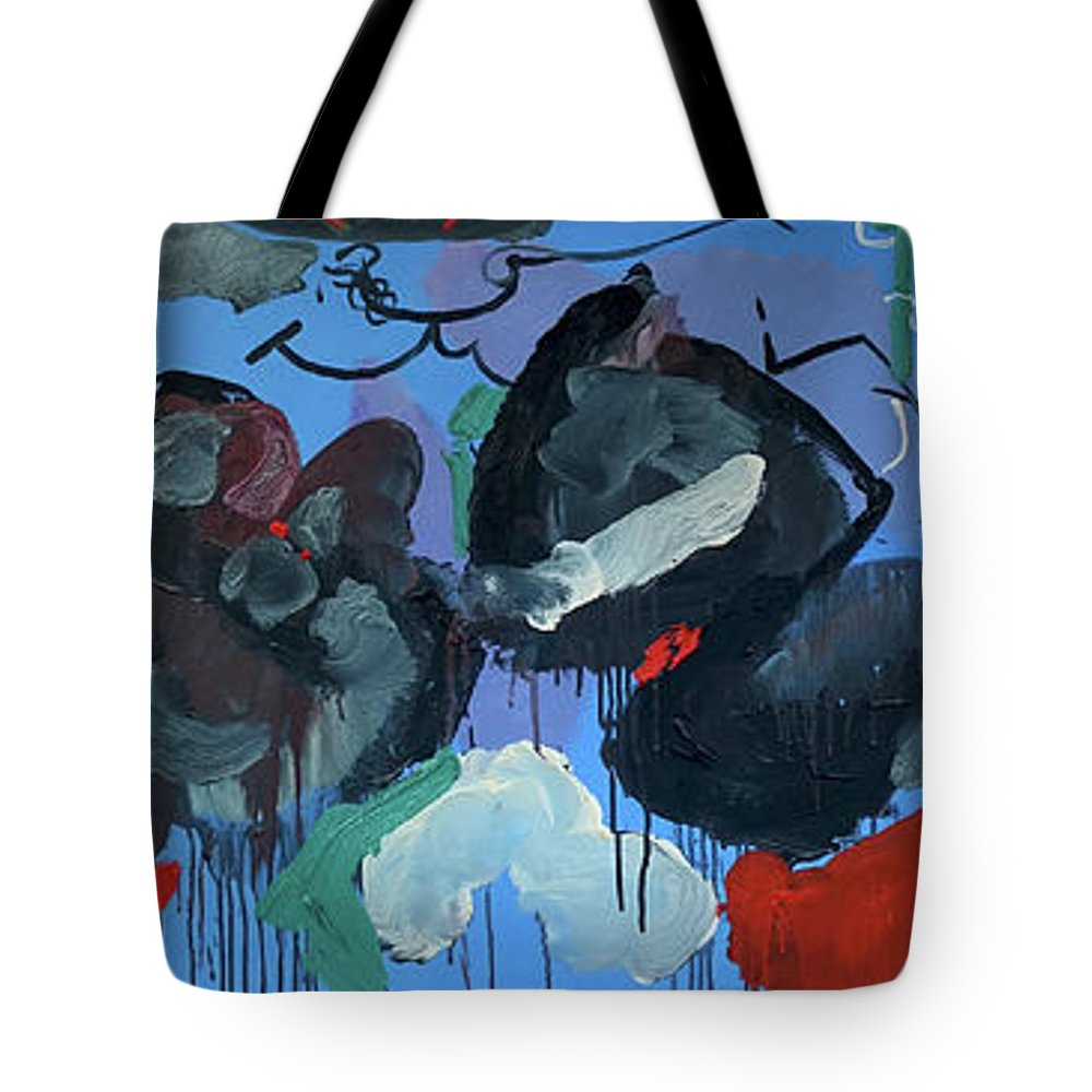 Blue Tote Bag featuring the painting Going Down by Peregrine Roskilly