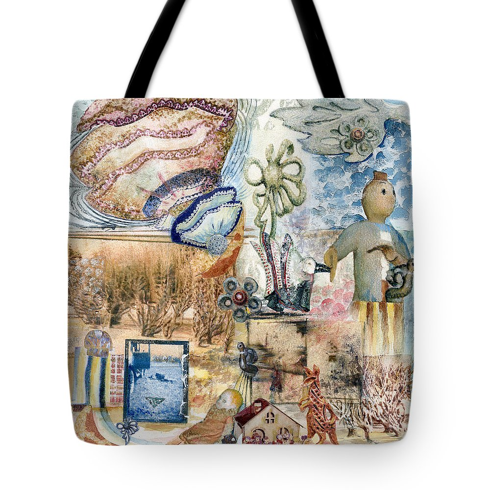 Fantasy Digital Art Tote Bag featuring the painting Going Down by Valerie Meotti