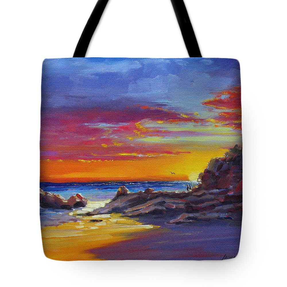Acrylic Painting Tote Bag featuring the painting Going Going Gone by Laura Lee Zanghetti