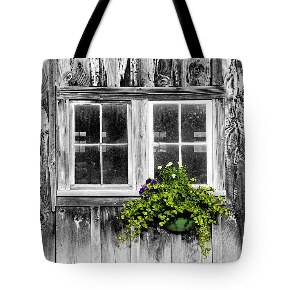 Flowers Tote Bag featuring the photograph Going Green by Greg Fortier
