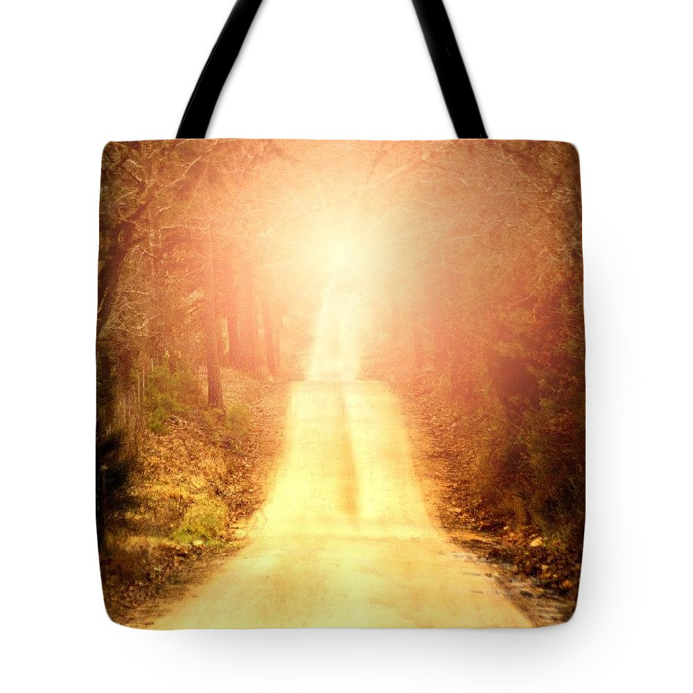 Country Tote Bag featuring the digital art Going Home by Bill Stephens