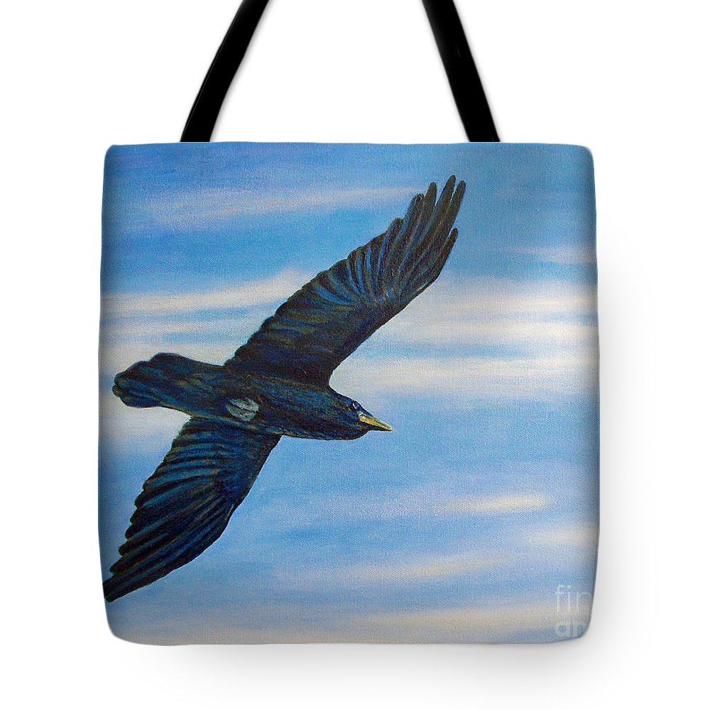 Bird Tote Bag featuring the painting Going Home by Brian Commerford