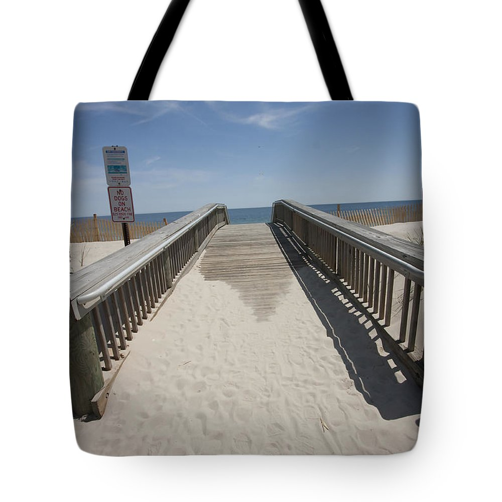 Beach Tote Bag featuring the photograph Going To The Beach by Mary Haber