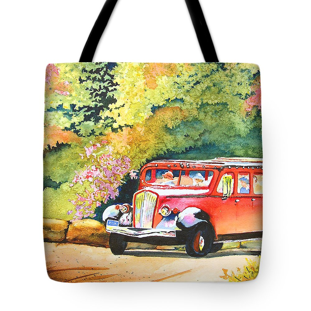 Landscape Tote Bag featuring the painting Going To The Sun by Karen Stark