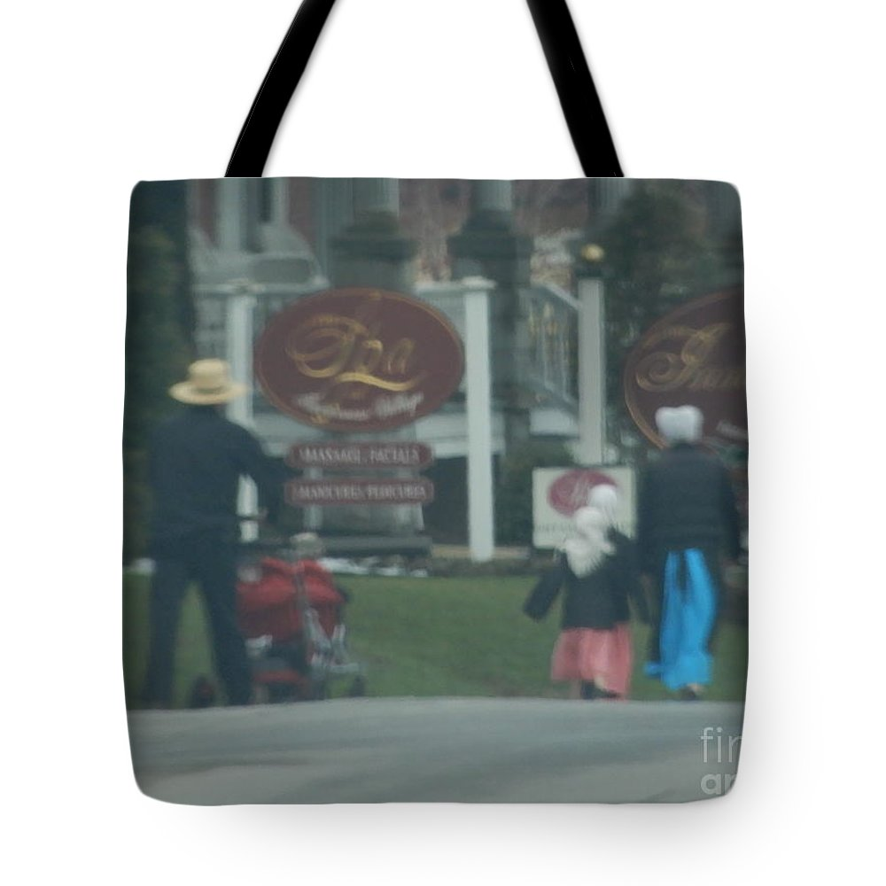 Amish Tote Bag featuring the photograph Going To Town by Christine Clark