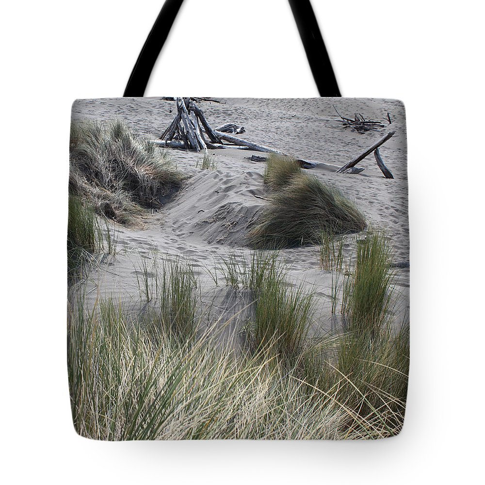 Driftwood Tote Bag featuring the photograph Gold Beach Oregon Beach Grass 15 by Lydia Miller