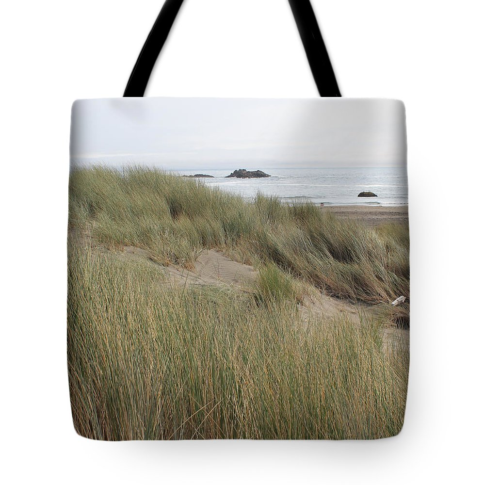 Driftwood Tote Bag featuring the photograph Gold Beach Oregon Beach Grass 23 by Lydia Miller