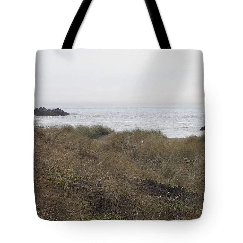 Driftwood Tote Bag featuring the photograph Gold Beach Oregon Beach Grass 3 by Lydia Miller