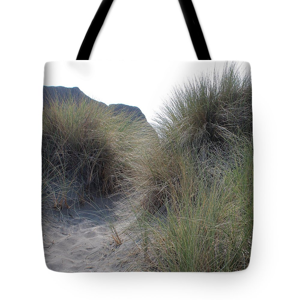 Driftwood Tote Bag featuring the photograph Gold Beach Oregon Beach Grass 6 by Lydia Miller