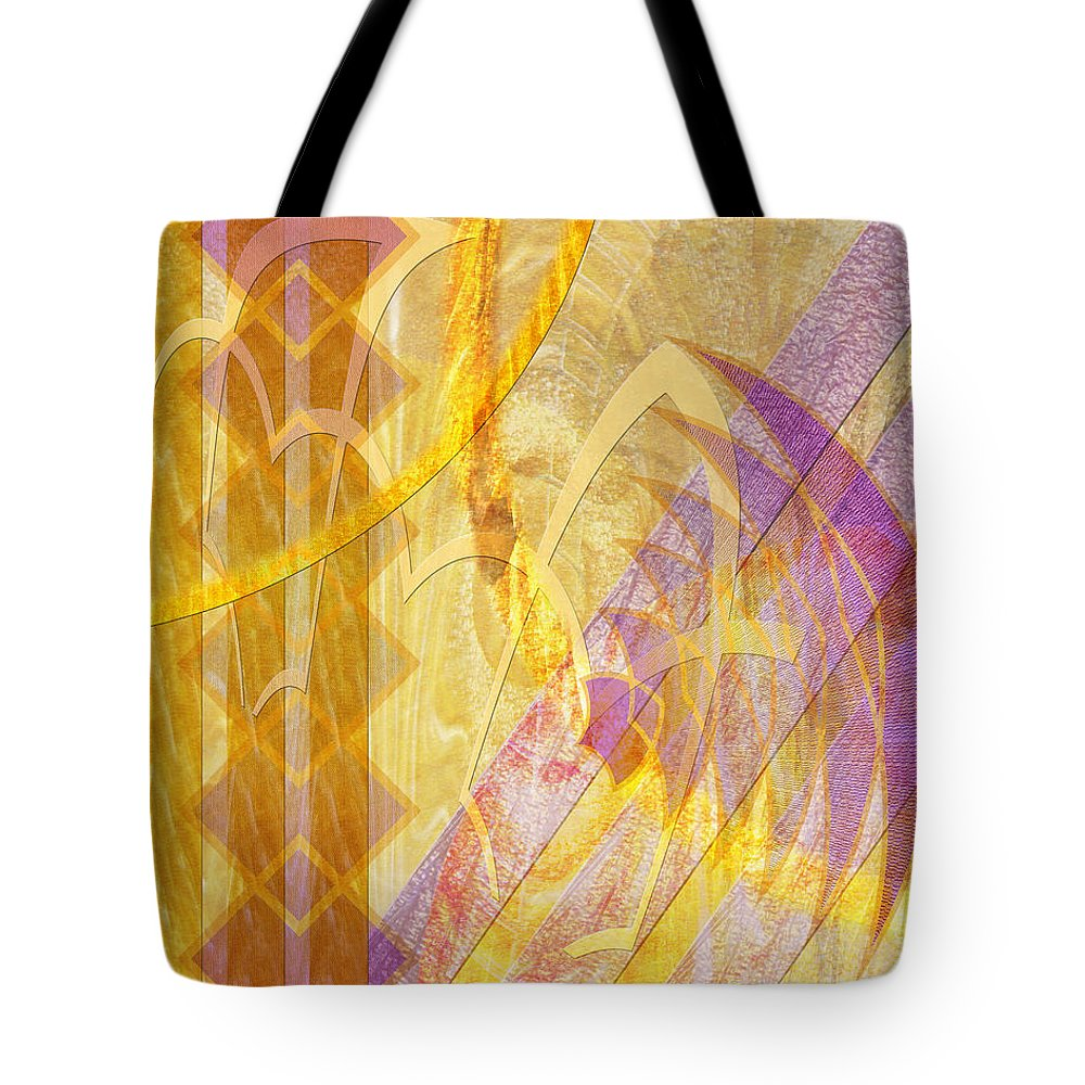 Gold Fusion Tote Bag featuring the digital art Gold Fusion by John Beck