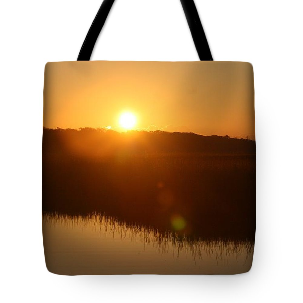 Glow Tote Bag featuring the photograph Gold Morning by Nadine Rippelmeyer