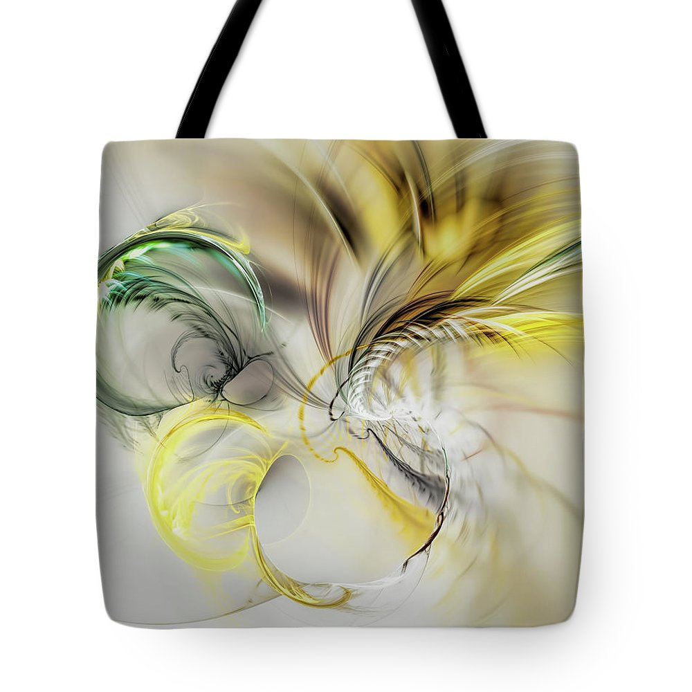 Abstract Background Tote Bag featuring the digital art Gold Plumage by Marfffa Art