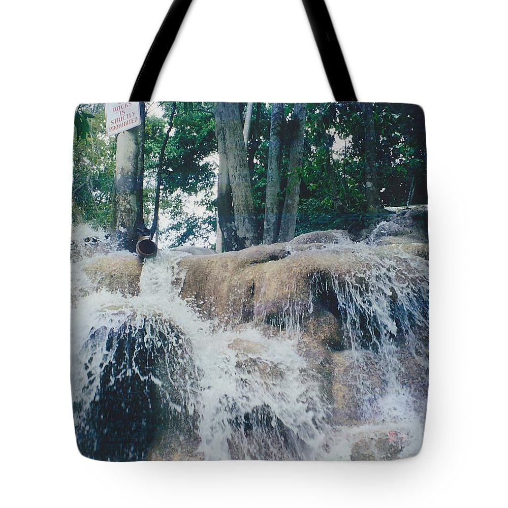 Water Tote Bag featuring the photograph Gold Rock by Michelle Powell