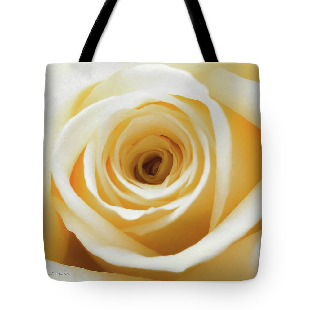Rose Tote Bag featuring the photograph Gold Rush by Jessica Manelis
