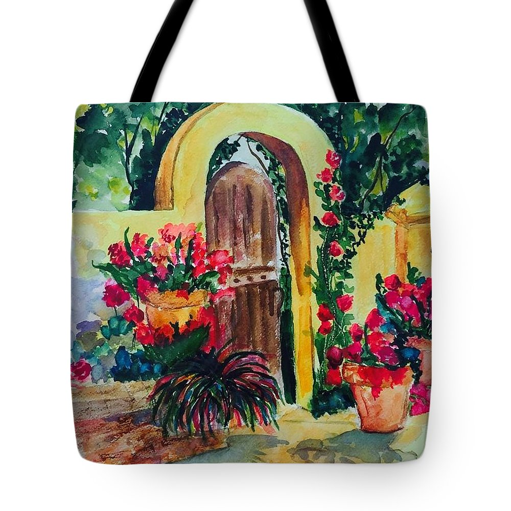 Landscaping Tote Bag featuring the painting Golden Arches by Denise Mc Nellis