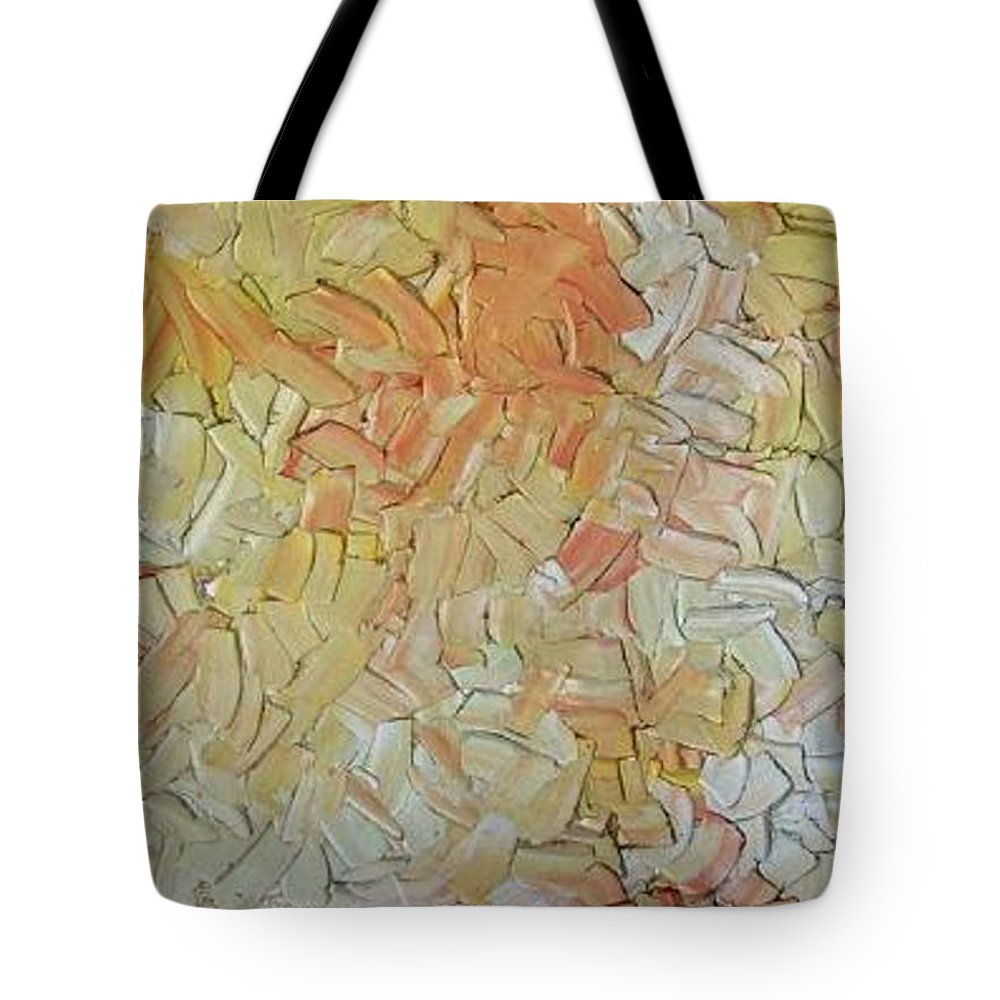 Golden Blossom Tote Bag featuring the painting Golden Blossom by Dawn Hough Sebaugh