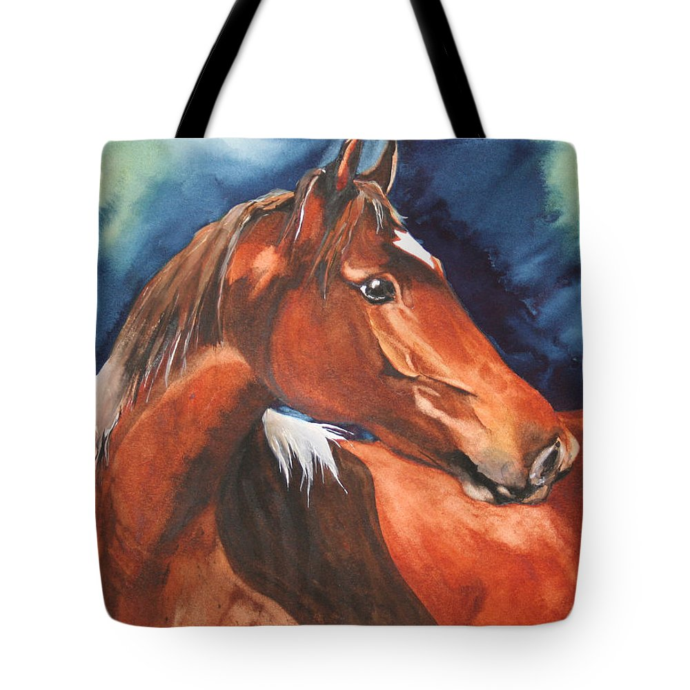Horse Tote Bag featuring the painting Golden Boy by Jean Blackmer